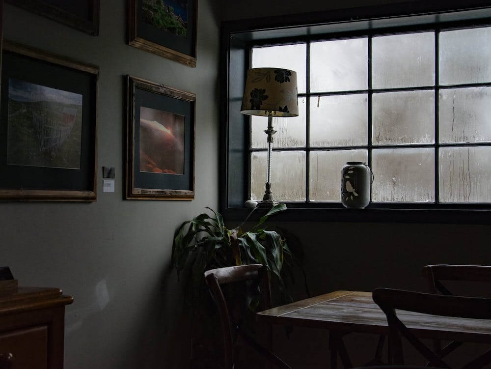 Looking out the stormy window